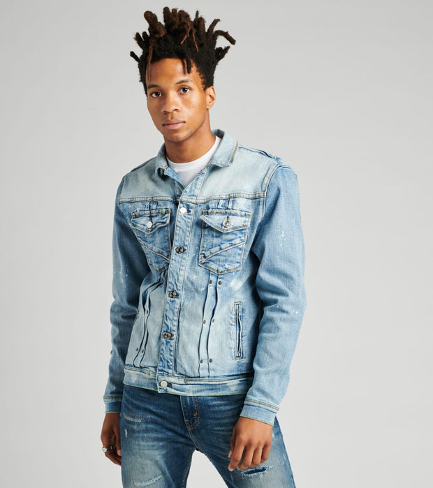 Embellish  Reggie Denim Jacket  Blue - EMBSP219-201 | Jimmy Jazz