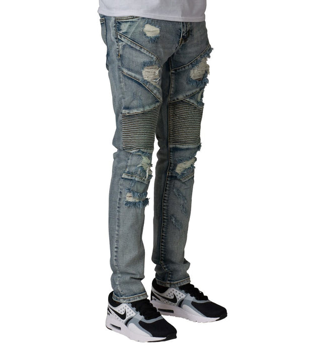 Embellish  Bad Biker Denim  Blue - EMBSPR252-LTB | Jimmy Jazz