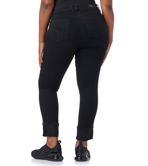 Essentials  PLUS MEGA CUFF JEAN  Black - EP661746-BLK | Jimmy Jazz