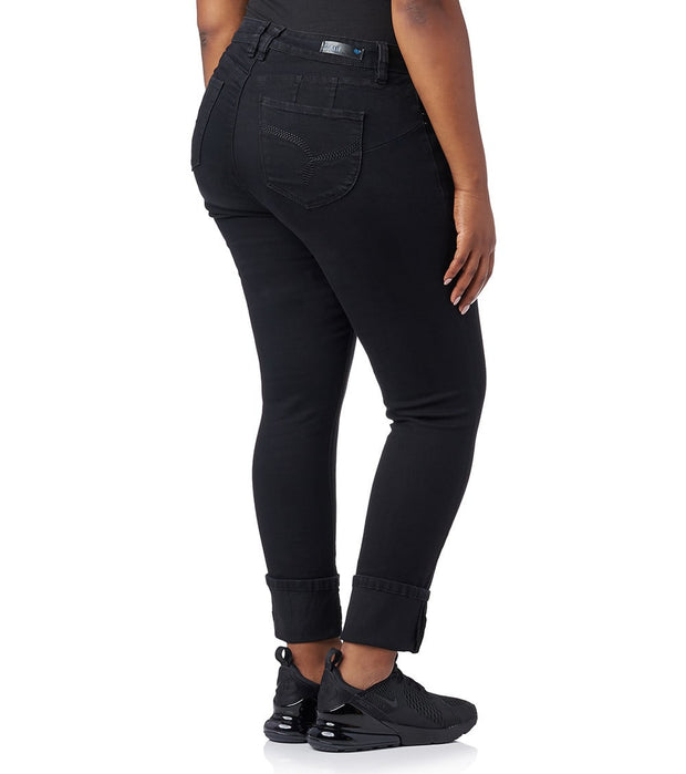 Essentials  Plus Mega Cuff Jeans  Black - EP661746-BLK | Jimmy Jazz