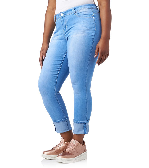 Essentials  PLUS MEGA CUFF JEAN  Blue - EP661746-L08 | Jimmy Jazz