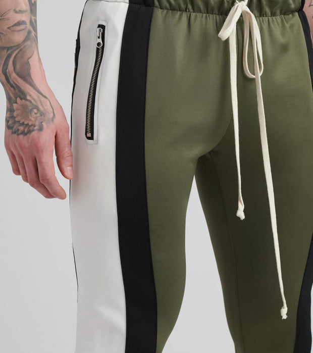 Eptm  Color Block Track Pants  Green - EP8574-OBO | Jimmy Jazz