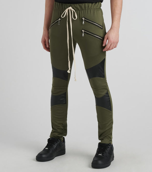 Eptm  Biker Vegan Leather Pants  Green - EP8706-OLI | Jimmy Jazz