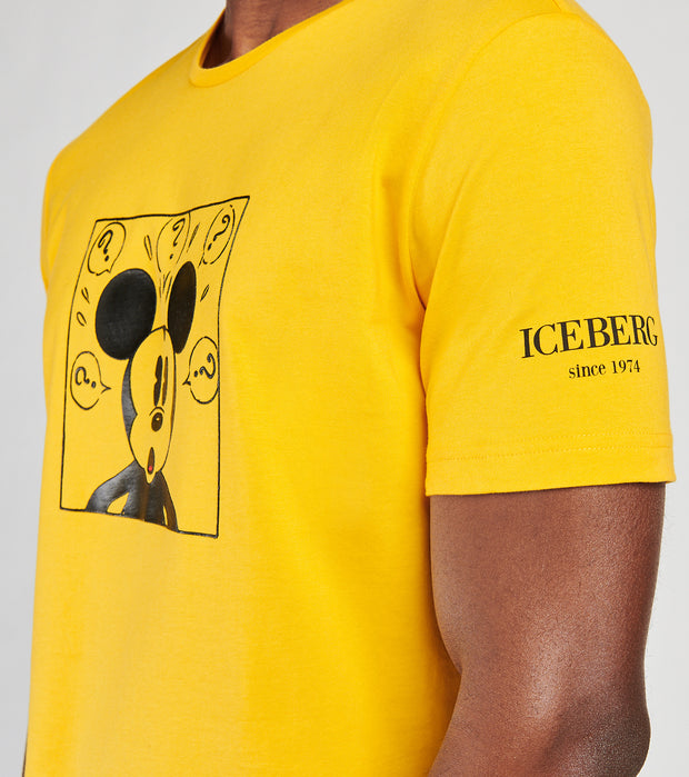 Iceberg  Mickey Whaaat Tee  Yellow - F0176301-3199 | Jimmy Jazz