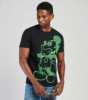 Iceberg  Mickey Fluorescent Outline Tee  Black - F0196304-9000 | Jimmy Jazz