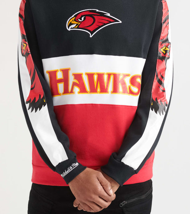 Mitchell And Ness  Atlanta Hawks Lead Scorer Crewneck  Black - FCNKDF18025AHA-BLK | Jimmy Jazz