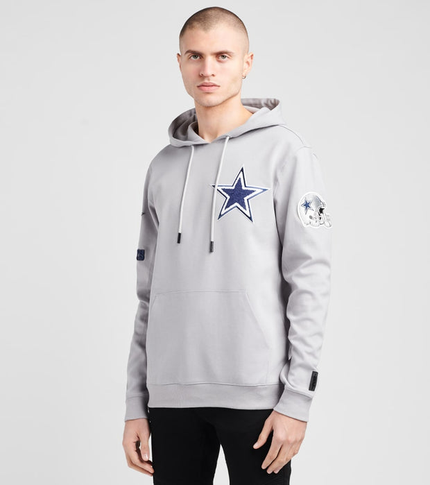 Pro Standard  Cowboys Logo Pullover Hoodie  Grey - FDC540144-GRY | Jimmy Jazz