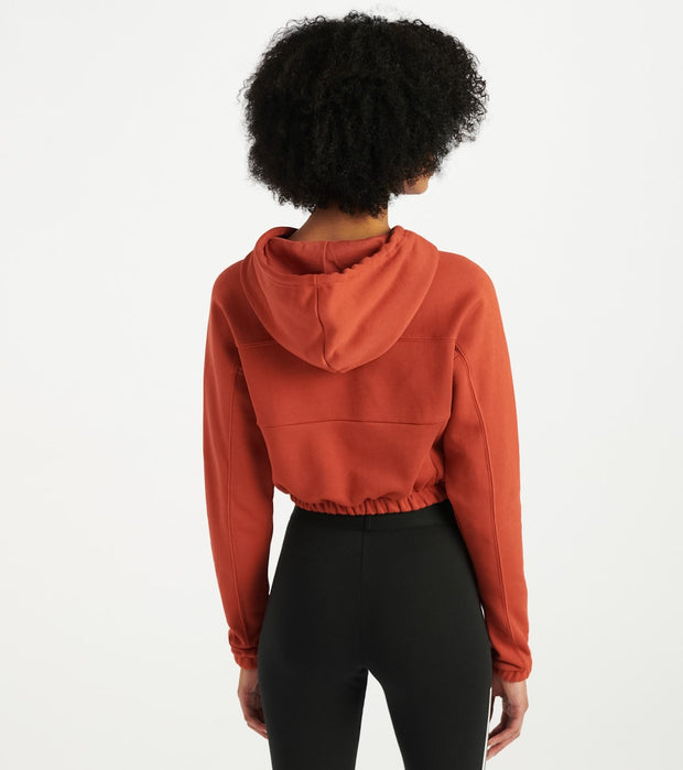 Adidas  Cropped Hoodie  Orange - FH7636-800 | Jimmy Jazz