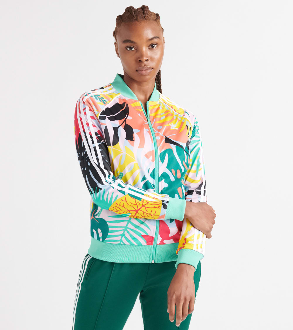Adidas  Nylon Graphic Jacket  Multi - FH7991-997 | Jimmy Jazz