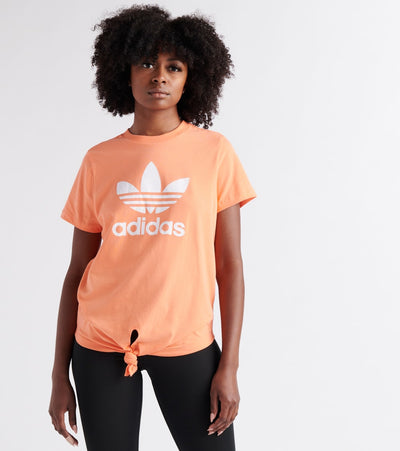 Adidas  Tropicalage Knotted Trefoil Tee  Orange - FH8000-830 | Jimmy Jazz