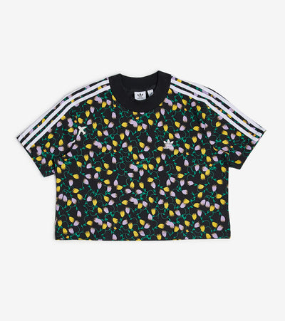 Adidas  Allover Print Crop Top  Multi - FL4108-997 | Jimmy Jazz