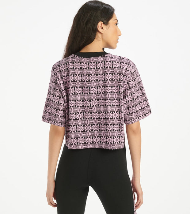 Adidas  Bellista Lace Print Tee  Purple - FL4117-100 | Jimmy Jazz