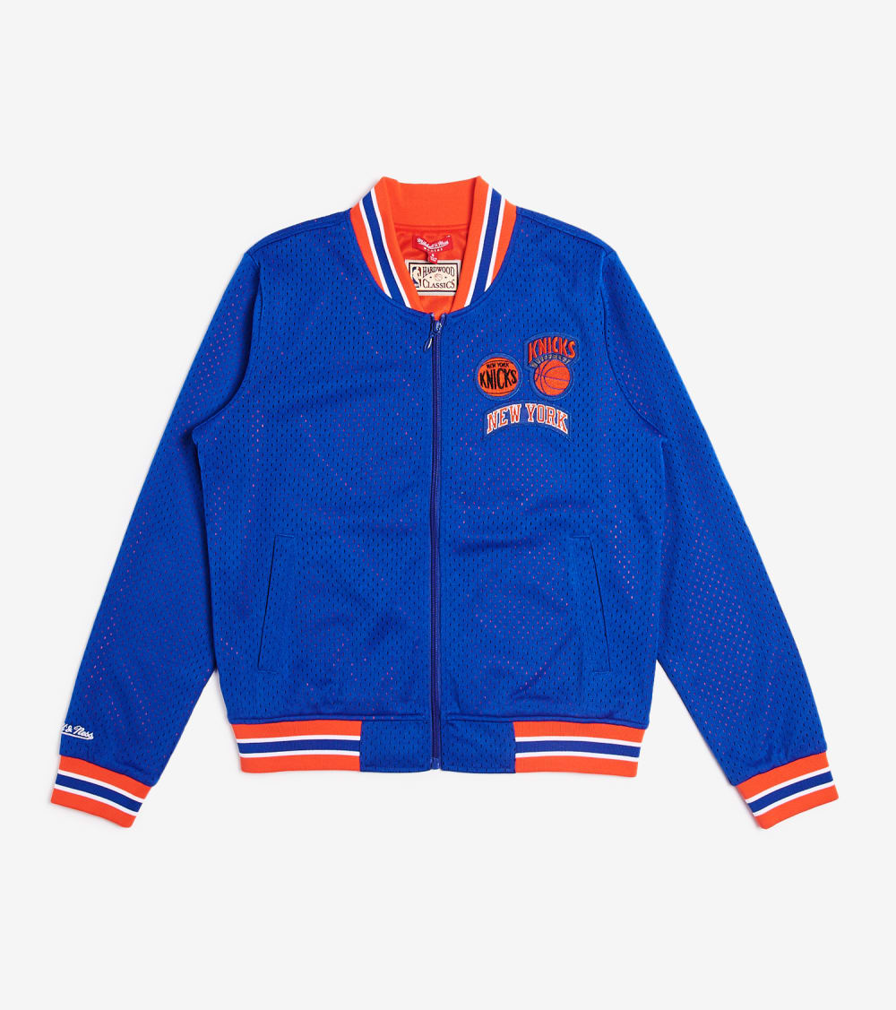 Mitchell And Ness  New York Knicks Mesh Jacket  Blue - FLZPEL18119-NYKROYA | Jimmy Jazz
