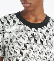 Adidas  Monogram Crop Tee  Black - FM1065-001 | Jimmy Jazz