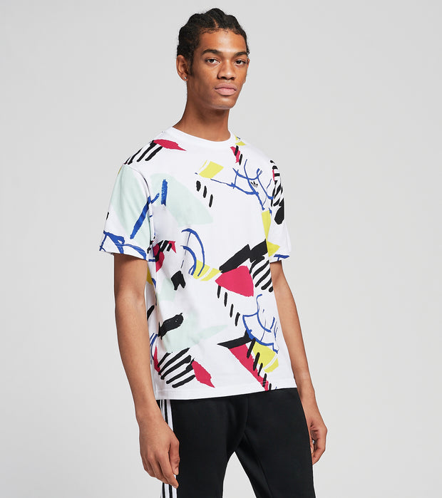 Adidas  Paint Print Tee  White - FM1550-100 | Jimmy Jazz