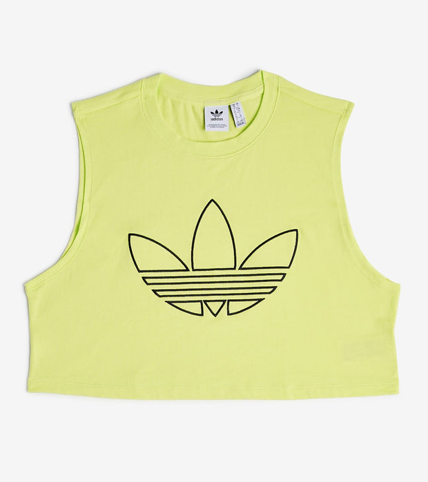Adidas  Trefoil Cropped Tank  Yellow - FM1926-724 | Jimmy Jazz