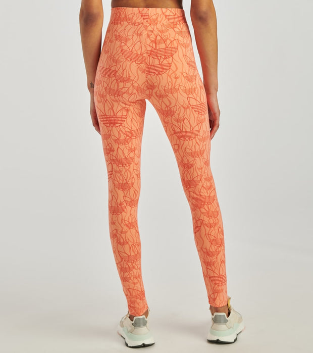 Adidas  All Over Print Tights  Orange - FM9469-837 | Jimmy Jazz