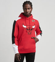 Mitchell And Ness  Chicago Bulls Pullover Hoodie  Red - FPHDMI19033CBU-SCAR | Jimmy Jazz