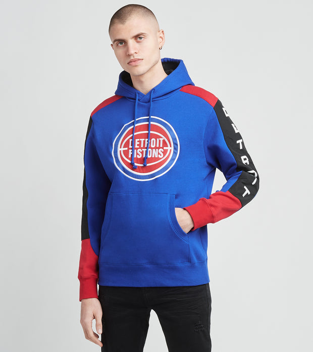 Mitchell And Ness  Detroit Pistons Pullover Hoodie   Blue - FPHDMI19033DPI-ROYA | Jimmy Jazz