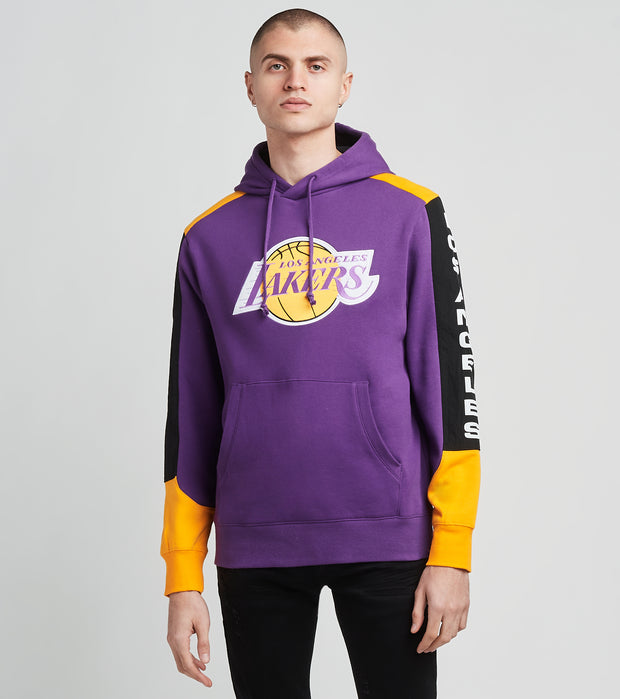 Mitchell And Ness  Los Angeles Lakers Pullover Hoodie  Purple - FPHDMI19033LAL-PURP | Jimmy Jazz