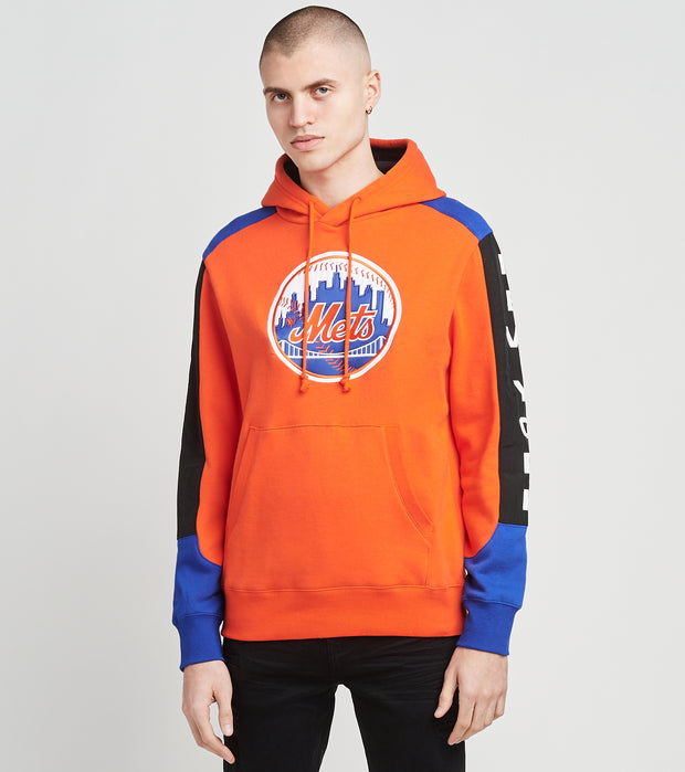 Mitchell And Ness  New York Mets Fleece Hoodie   Orange - FPHDMI19033NYM-ORAN | Jimmy Jazz