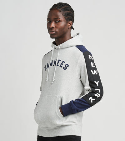 Mitchell And Ness  New York Yankees Pullover Hoodie  Grey - FPHDMI19033NYY-GYHT | Jimmy Jazz
