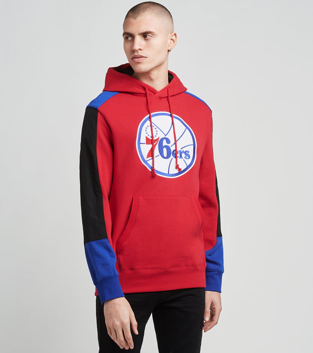 Mitchell And Ness  Philadelphia 76ers Pullover Hoodie  Red - FPHDMI19033P76-SCAR | Jimmy Jazz