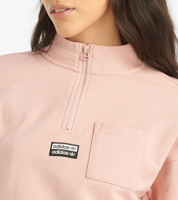 Adidas  Half Zip Sweatshirt  Pink - FR4037-688 | Jimmy Jazz