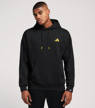 Adidas  Bascat Fleece Hoodie  Black - FR6595-001 | Jimmy Jazz