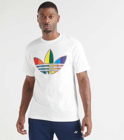 Adidas  Multi Color Trefoil Tee  White - FT8538-100 | Jimmy Jazz