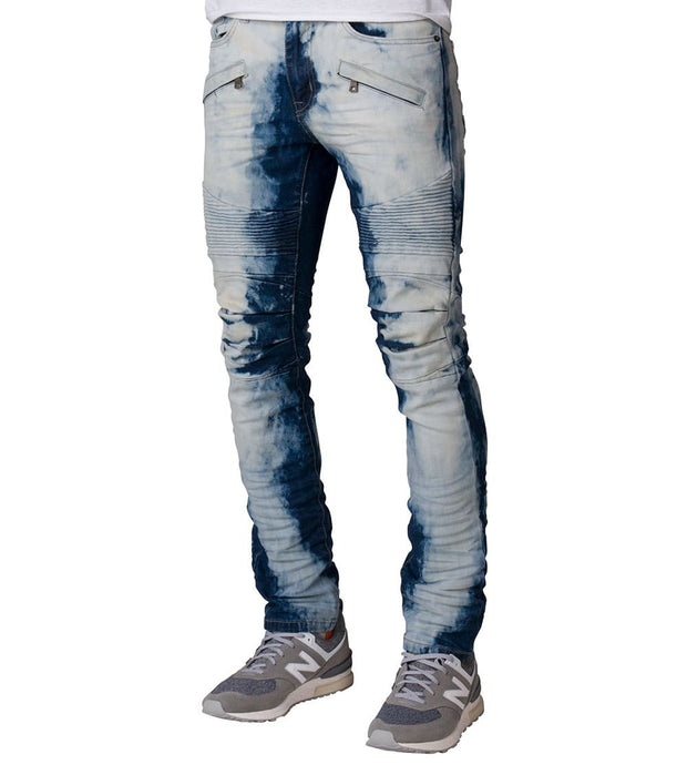 Decibel  Premium Wash Moto Jeans  Blue - FW17733L32-RBL | Jimmy Jazz