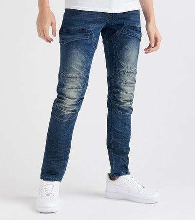 Decibel  Starry Cargo Pocket Jean - L32  Blue - FW18935L32-SBL | Jimmy Jazz