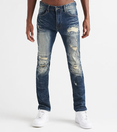 Decibel  Slim Repair Jeans - L34  Blue - FW19334L34-CBL | Jimmy Jazz