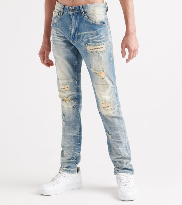 Decibel  Slim Repair Jeans - L34  Blue - FW19334L34-LBM | Jimmy Jazz