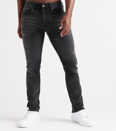 Decibel  Daily Rip and Repair Denim Jean - L32  Black - FW19736L32-BKM | Jimmy Jazz