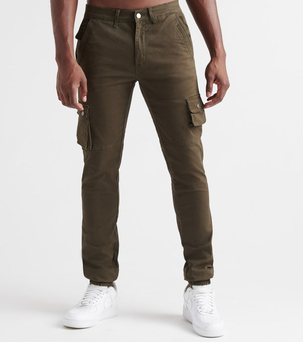 Decibel  Decibel Cargo Pants with Ribbed Cuffs  Green - FW19B521-GRN | Jimmy Jazz