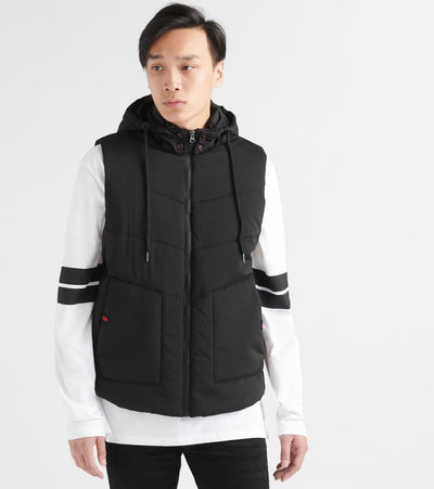 Decibel  Basics Bubble Vest W Hood  Black - FW19V100-BLK | Jimmy Jazz