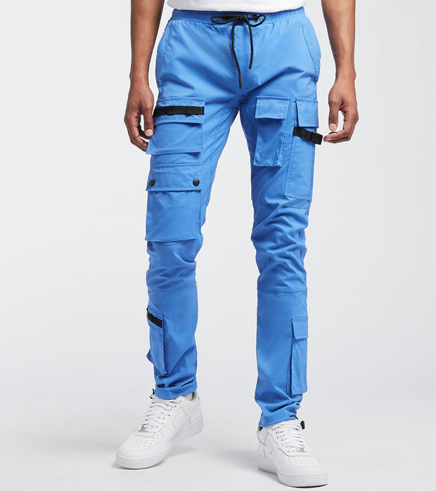 Decibel  Cargo Nylon Pants With Stripes  Blue - FW20B317-BLU | Jimmy Jazz