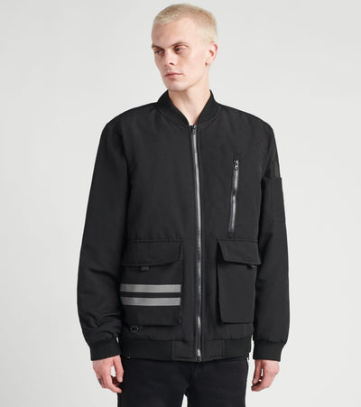American Stitch  Reflective Strips Jacket  Black - FW20J503-BLK | Jimmy Jazz