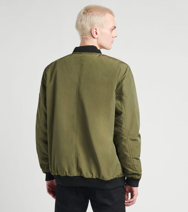 American Stitch  Reflective Strips Jacket  Green - FW20J503-OLV | Jimmy Jazz