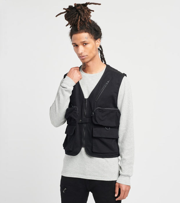 American Stitch  Cargo Pocket Vest  Black - FW20V606-BLK | Jimmy Jazz
