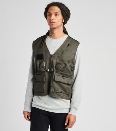 American Stitch  Cargo Pocket Vest  Green - FW20V606-OLV | Jimmy Jazz