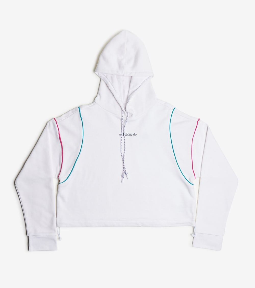 Adidas  Cropped Hoodie  White - GC8789-100 | Jimmy Jazz