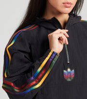 Adidas  Cropped Half Zip Jacket  Black - GD2262-001 | Jimmy Jazz