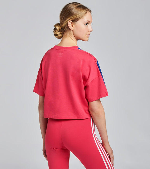 Adidas  Big Trefoil Short Sleeve Cropped Tee  Pink - GD2269-690 | Jimmy Jazz
