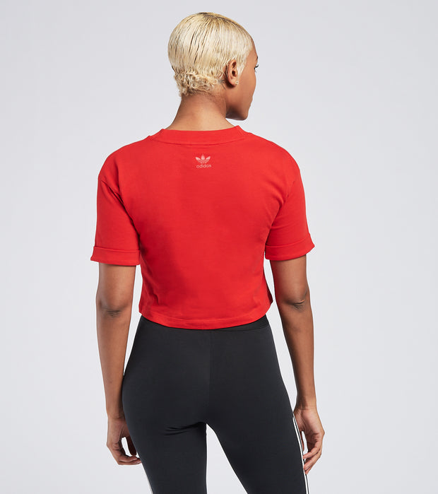 Adidas  Crop Top  Red - GD2319-610 | Jimmy Jazz