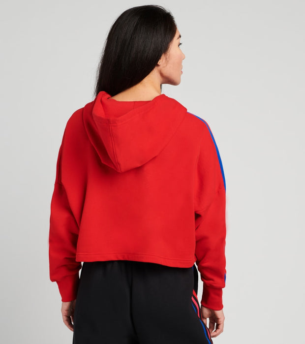 Adidas  3D Trefoil Cropped Hoodie  Red - GD2324-610 | Jimmy Jazz