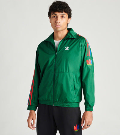 Adidas  3D 3 Stripe Track Jacket  Green - GE0847-302 | Jimmy Jazz