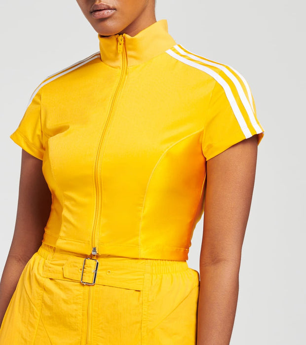Adidas  Paolina Russo Crop Zip Top  Yellow - GF0261-714 | Jimmy Jazz