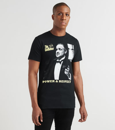 American Classics Inc.  Power N Respect Godfather Tee  Black - GF5155-YLW | Jimmy Jazz